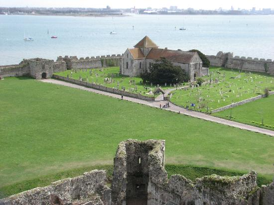 Portchester, UK: View towards the Church