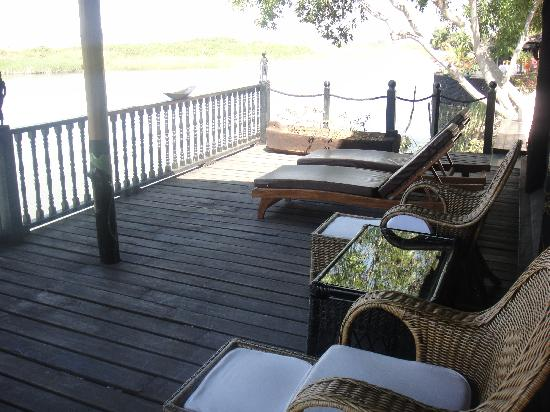 Inle Princess Resort: Terrasse