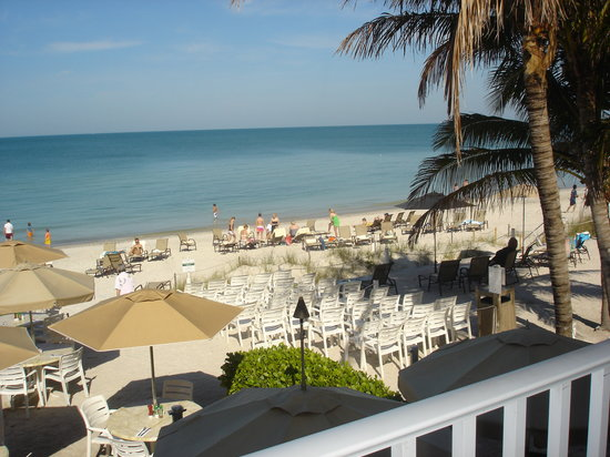Vanderbilt Beach Resort: view from 2nd floor balcony