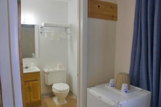 Americas Best Value Inn and Suites Farmington: Double Bed Bathroom