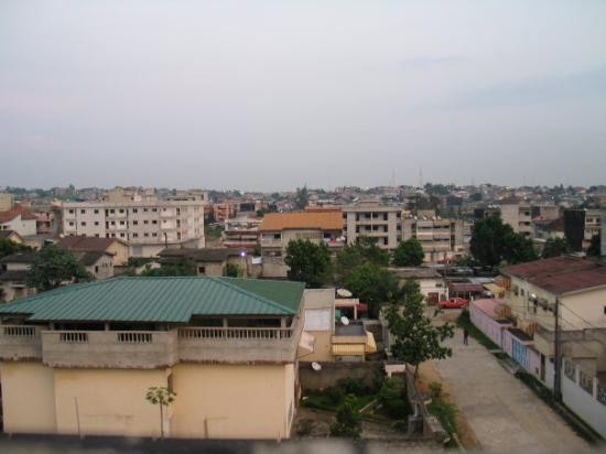 View of a suburb in Abidjan