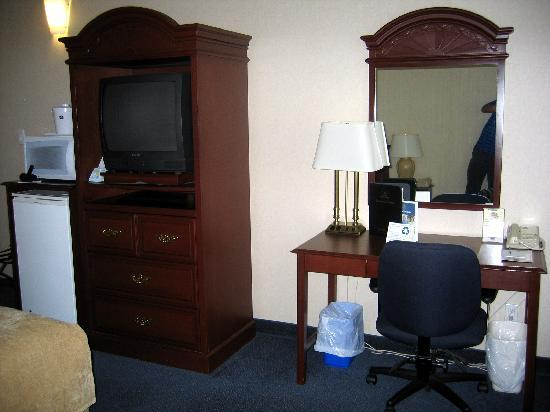 Best Western Plus Travel Hotel Toronto Airport: Desk and TV area