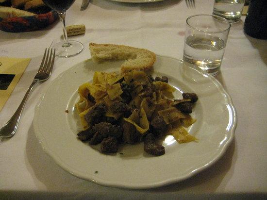 Ristorante Guidoriccio: pappardelle with wild boar sauce