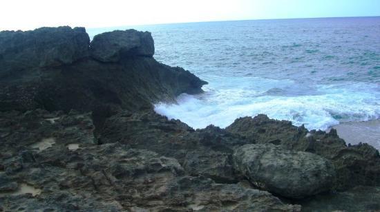 Arecibo, Portorico: Rocky beach
