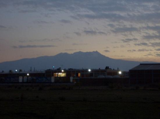 Nevado De Toluca.. a long-dormant volcano near Toluca.. The lights in the foreground is the BIMB