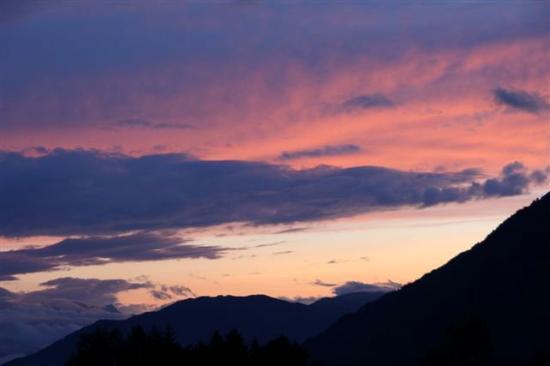 St. Stefan an der Gail, Áustria: Sonnenuntergang