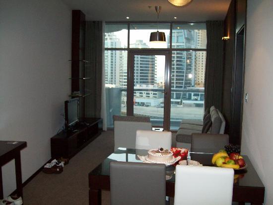 Lotus Hotel Apartments & Spa, Dubai Marina: Living 1