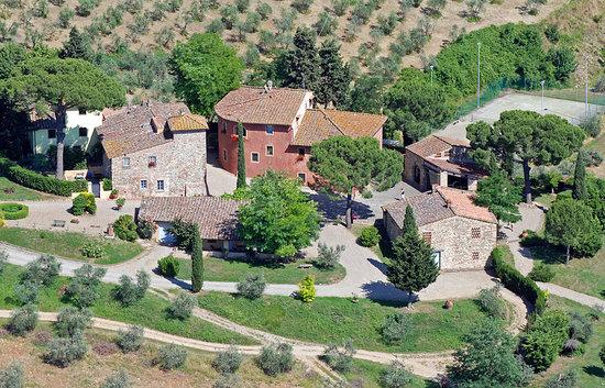 Salvadonica - Borgo Agrituristico del Chianti: foto dall'alto / from the sky