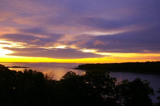 Ledges By the Bay: Dawn on Penobscot Bay (View from Balcony)
