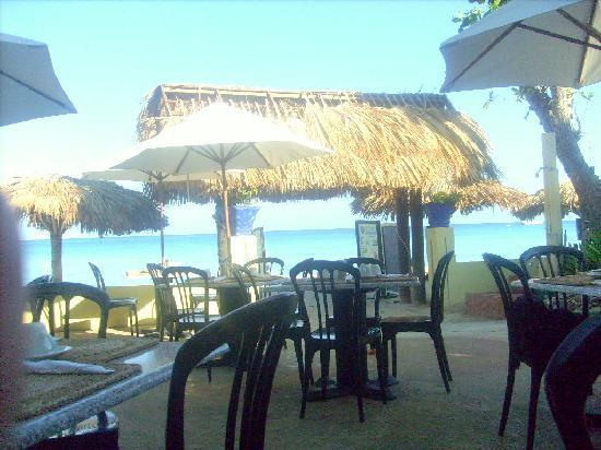 Bar B Barn from the beach - Picture of Bar-B-Barn, Negril ...