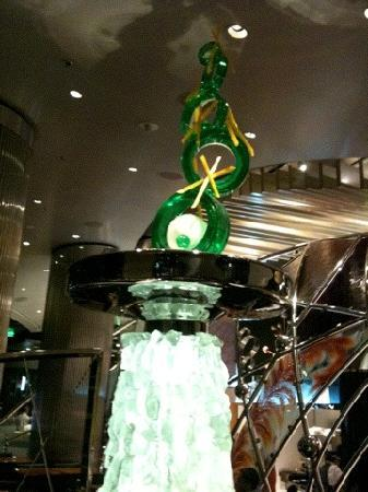 CityCenter Las Vegas : Spun sugar sculpture at Jean-Philippe Patisserie in ARIA at CityCenter