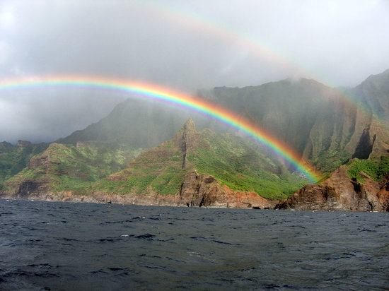 Kauai, Havai: Na Pali Double Rainbows