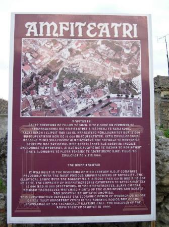 Durres, Albania: March 27th, 2010 as the sign says, Durrës Amphitheatre (Albanian: Amfiteatri i Durrësit) 2nd Cen
