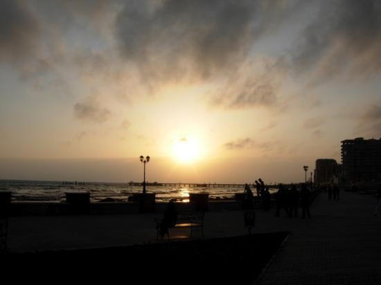 March 27th, 2010.  Sunset over the Adriatic Sea in Durres, Albania