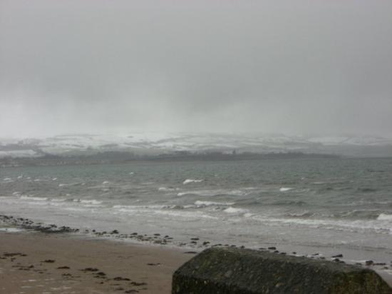 Ayr - Never felt that cold in my life!!!  I cannot feel my face at all during the walk on the be