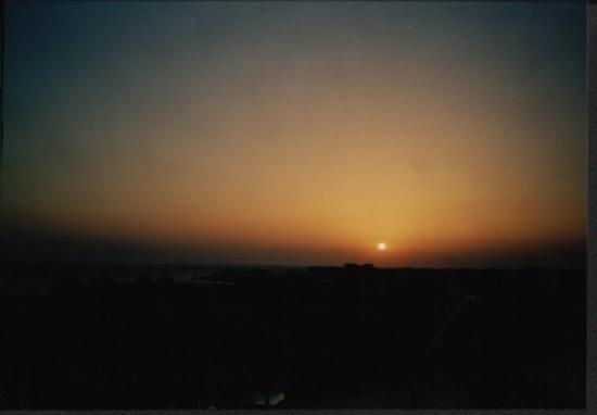 Eastern (Arabian) Desert : This is the sunrise over the red sea, to be seen from the Hotel Tower