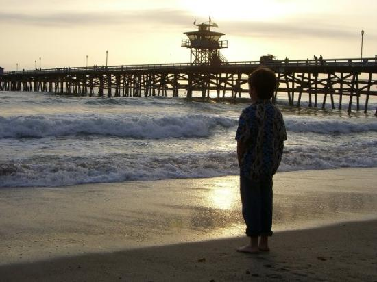 San Clemente, Californien: EJ and the Sunset.