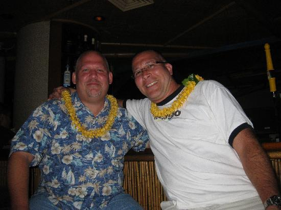 Hula's Bar & Lei Stand: My partner & I at the bar.  See, you really can get a lei at Hula's!  No pun intended!  LOL!