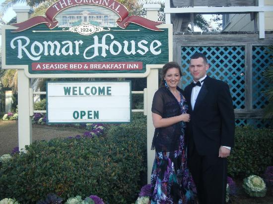 The Original Romar House Bed & Breakfast Inn: The Romar House-Ready to go to the Military Mardi Gras Ball in Mobile, AL.