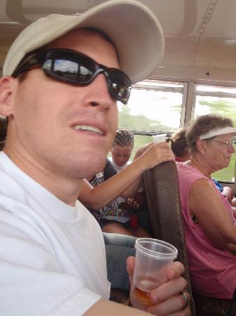 Cavetubing with Major Tom: my husband w/ cashew wine