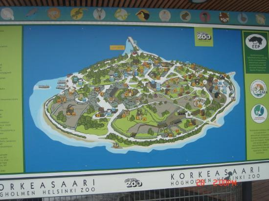 the map of the Korkeasaari Zoo Picture of Korkeasaari Zoo