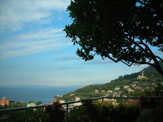 Recco, Włochy: panorama dal terrazzo
