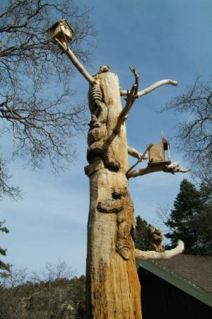 Mountain High: Carved Tree