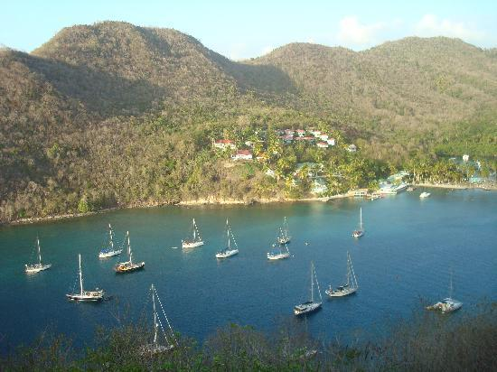 Marigot Bay, St. Lucia: View from The Inn on the Bay