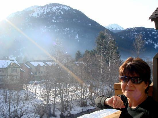 Pemberton Valley Lodge: We were very happy with the view...but then we don't get too much snow at home.