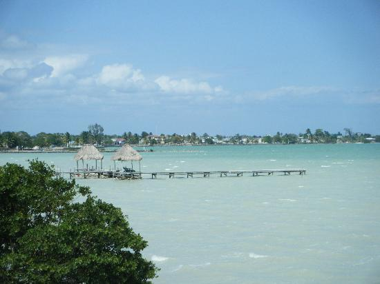 Corozal Town, Belize: taken from the railing outside our room looking towards town
