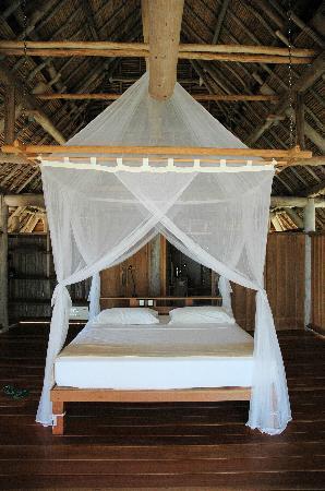 Nikoi Island: unser Bett