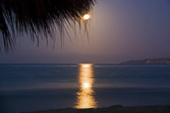 Bucerias, เม็กซิโก: moon setting from the beach