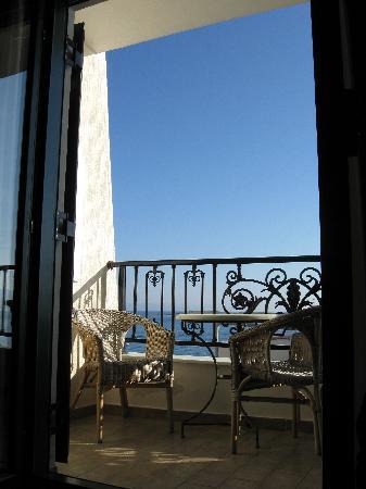 Hotel Dionysos: Blick von unserer Suite
