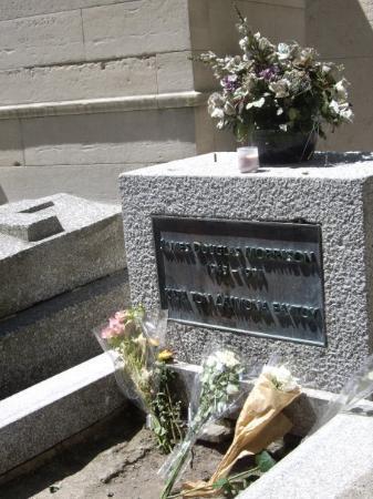 Pere-Lachaise gravlund (Cimetiere du Pere-Lachaise): Jim Morrison