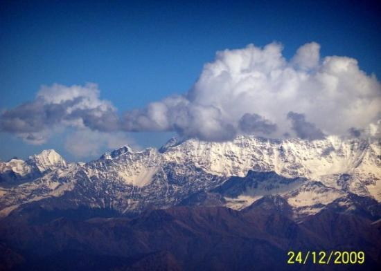 View of Himalayas from Dhanaulti