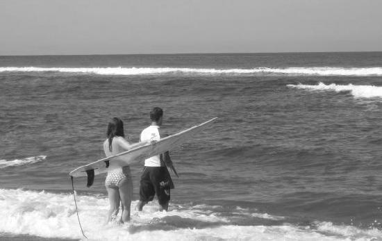 Rincon of the Seas Grand Caribbean Hotel: Surfing at Maria's Beach