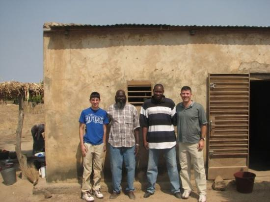 Bamako, Mali: Daniel and I with ODES ministers Paul and Adema.