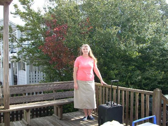 Blue Marlin Beach Lodging: me on the porch