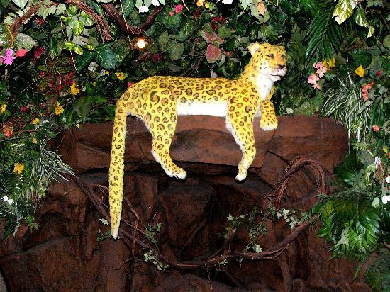 Rainforest Cafe: A leopard that wags it's tail