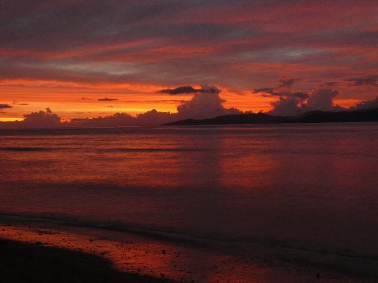 Taveuni, Fiyi: incredible sunset view every evening
