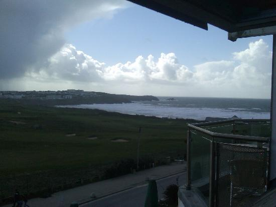 Carnmarth Hotel: View from my room, the sun terrace was directly below