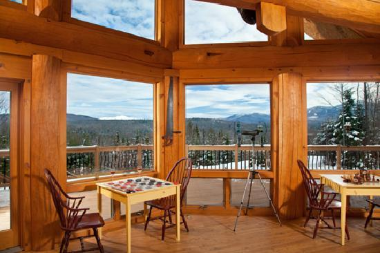 Bear Mountain Lodge: View from Greatroom to Mt. Washington