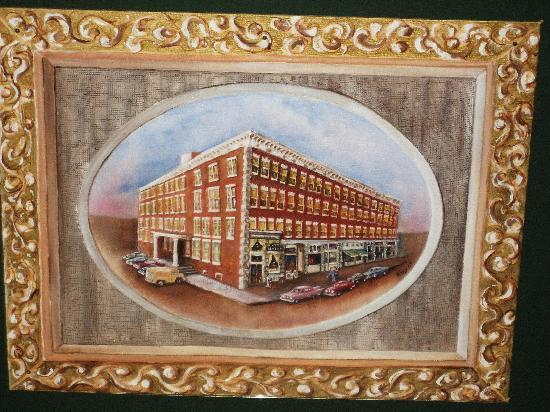 Point Pleasant, WV: Painting of Hotel in Lobby