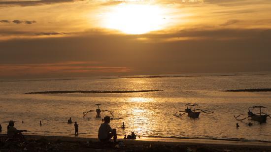 Tuban beach at sunset