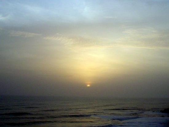 Sunset from the cliff in Varkala