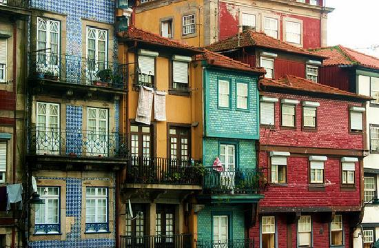 Porto, Portugal: Colorful houses