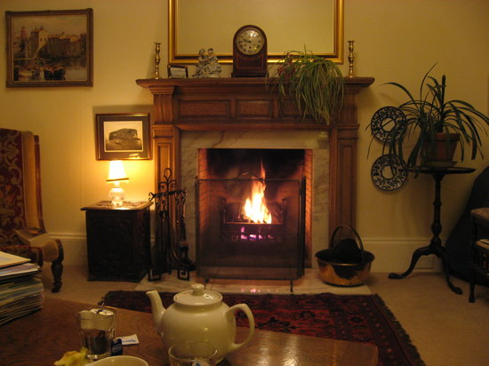 The Wing, Bed and Breakfast: Fireplace in the lounge