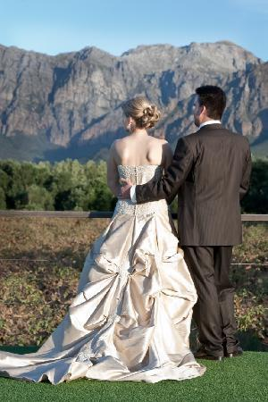Palmiet Valley Wine Estate & Boutique Hotel: Susanne & Alex on sun deck
