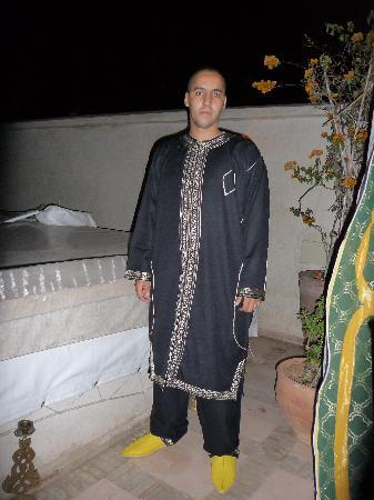 Riad Papillon : Abdou dressed up
