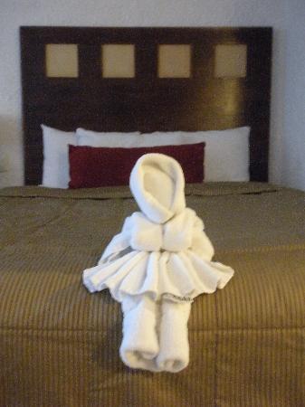 El Cid La Ceiba Beach Hotel: Towel Art!